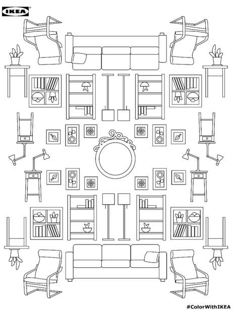 Branded Furniture Coloring Books