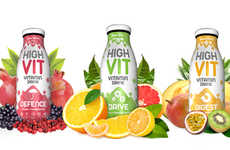 Delicious Supplement Drinks - 'HighVit' Beverages are Like Liquid Vitamins for Fast-Paced Consumers