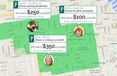 Shared Parking Apps - MonkeyParking Lets Users Split Parking Rental Costs with Others