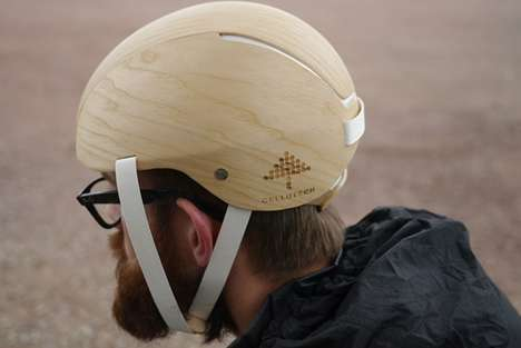 Wood Foam Helmets - This Eco-Friendly Bike Helmet Features a Biodegradable Styrofoam Substitute