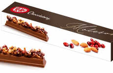 Nutty Gourmet Chocolate Bars - The New Kit Kat Chocolatory Moleson Features Gourmet Toppings