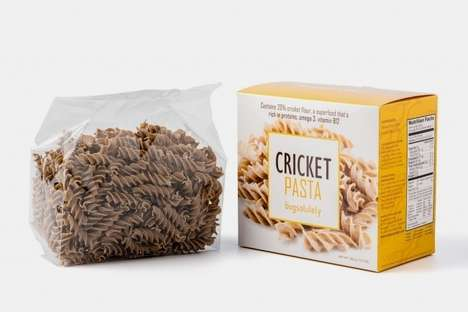 Cricket Flour Pastas - This Nutritional Pasta is Made with Flour Milled from Edible Live Crickets