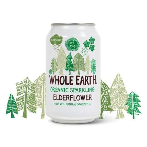 Sparkling Elderflower Drinks - Whole Earth's Elderflower Drink is Enriched with Fruit Ingredients
