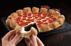 Garlicky Stuffed Pizza Crusts - The New Stuffed Garlic Knots Pizza is a Cheesy Hybrid Dish