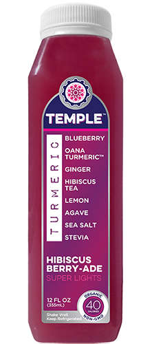 Turmeric Hibiscus Drinks - Temple Turmeric's Botanical Beverage is Enriched with Hibiscus Flavors