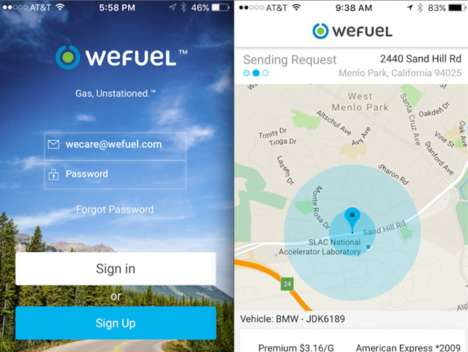On-Demand Gas Deliveries - The 'WeFuel' App Allows Consumers to Request Gasoline on the Go