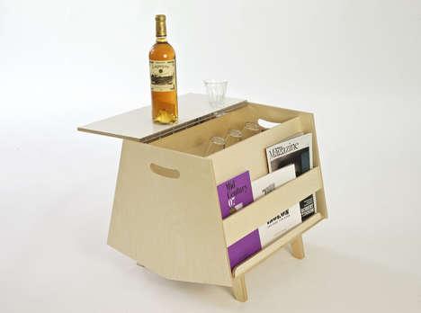 Bar-Embedded Coffee Tables
