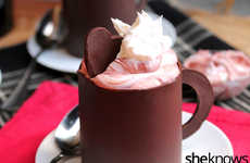 Edible Chocolate Mugs - This Red Velvet Mousse Dessert is Served in a Cocoa Cup