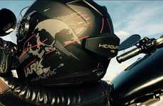 Motorbike Helmet Speakers - The Headwave Tag Transmits Clear Audio Through Your Motorbike Helmet