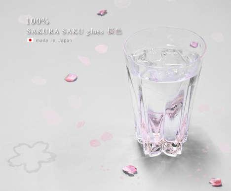 Sakura-Shaped Glassware