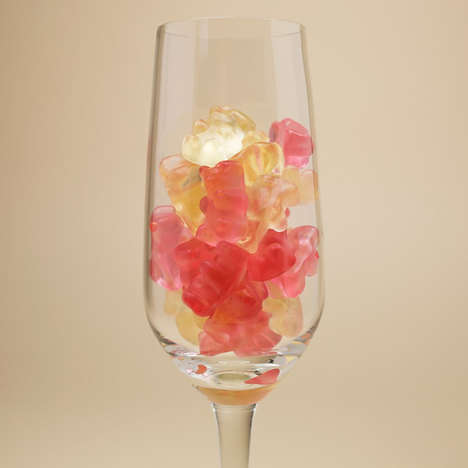Carbonated Prosecco Candies - These Sparkling Wine Gummy Bears are Designed as Adult Treats