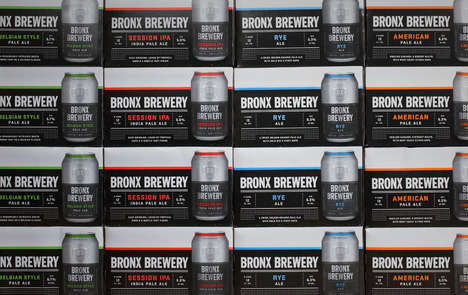 Urban Brewery Rebrands - Bronx Brewery Recently Refocused Its Branding and Packaging Scheme