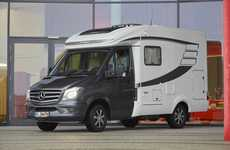 Luxury Van Motorhomes - The New Mercedes Hymer Van S 500 Provides Functional Travel Accommodations