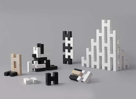 Stimulating Structural Toys - The 'H Blocks' Wooden Block Set is Suitable for Child or Adult Usage