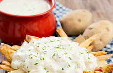 Soup-Topped French Fries - This Recipe for Clam Chowder Fries Does Not Require Eating With a Spoon