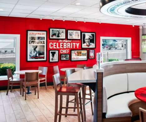 Novelty Millennial Eatery Rebranding - KFC Redesigns its Restaurants to Cater to Communication
