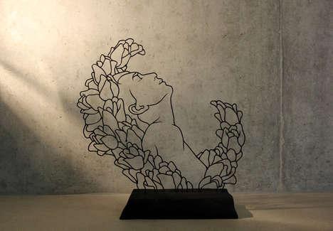Flowery Wire Art