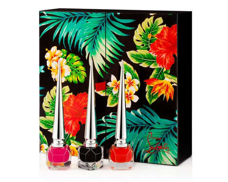 Tropical Nail Lacquers - Christian Louboutin's Hawaii Kawai Nail Enamel Coffrets are Exotically Chic