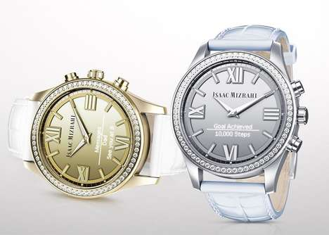 Crystallized Classic Smartwatches - The HP Isaac Mizrahi Smartwatch is Packed with Swarovski Gems