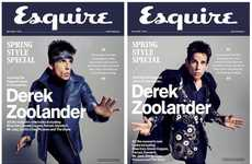 Comedic Movie Model Editorials - Ben Stiller as Derek Zoolander is the Cover Star for Esquire UK