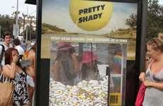Sunscreen Claw Games - This Stunt for 'Pretty Shady' Turns Bus Stop Shelters into Interactive Games