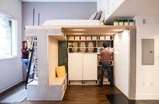 Upwardly-Oriented Condos - The Domino Micro Loft Incorporates Upward Space for Comfy Living
