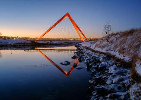 Triangular Pedestrian Bridges