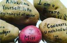 Potato Love Notes - MysteryPotato is a Mail Service That Lets You Send a Potato With a Nice Message