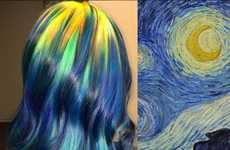 Famous Painting Hairstyles - Ursula Goff Converts Iconic Works of Art into Colorful Haircuts