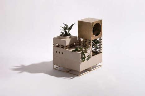Architectural Edifice Planters