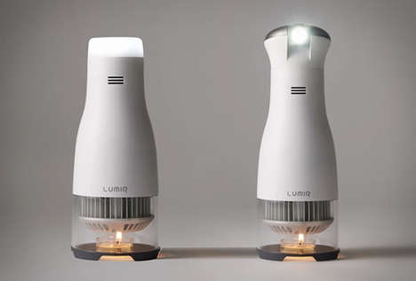Lighthouse Lamp Candles - The Lumir C Candle Features an LED Bulb that Offers a Focused Light Source