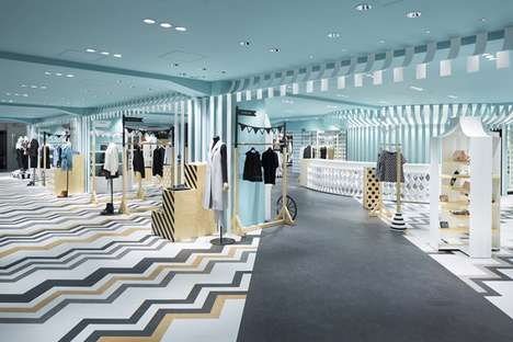 Candy-Striped Fashion Floors