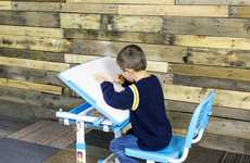 Growth-Accommodating Desks - The VIVO Children's Heigh Adjustable Desk Grows with Children