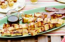 French Toast Kebabs - This Novel French Toast Recipe is Served on a Stick