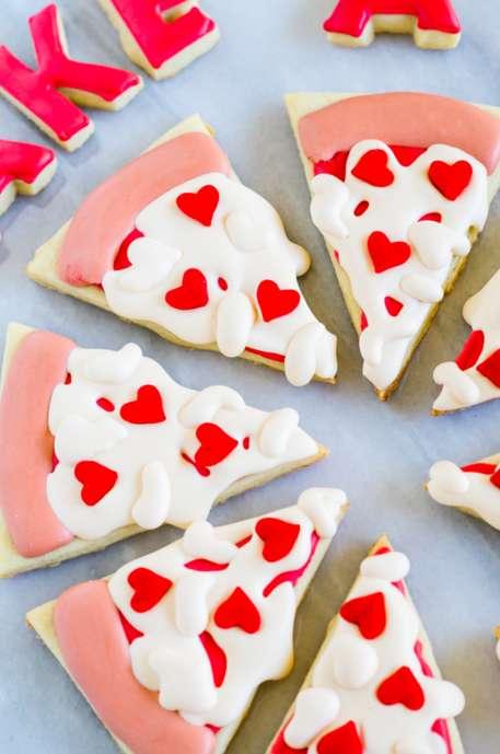 Romantic Pizza Pun Cookies