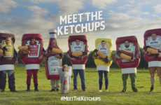 Familial Condiment Ads - Heinz' Super Bowl Ad Stars a Condiment Family and a Stampede of Weiner Dogs