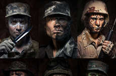 Animalistic Soldier Portraits