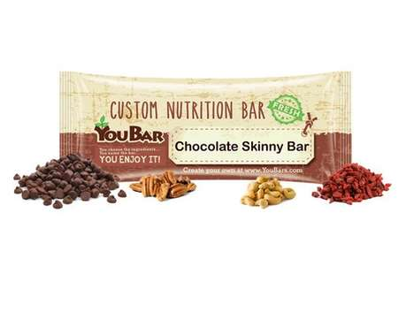 Customizable Protein Bars - 'YouBar' Helps Consumers Create Their Own Nutrition and Protein Bars