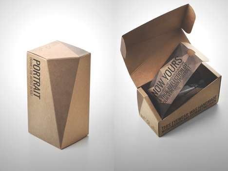 Cardboard Eyewear Boxes - Portrait Eyewear's Sunglasses Packaging System Embraces Simplicity