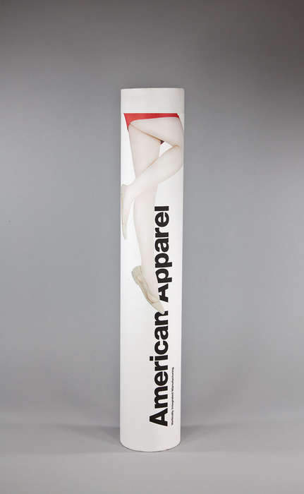 Tubular Footwear Packaging - This American Apparel Packaging Uses Eco-Friendly Materials
