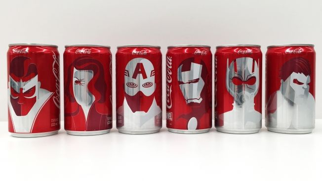 Superhero Cola Cans