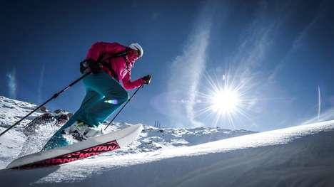 Hybrid Showshoe Skis