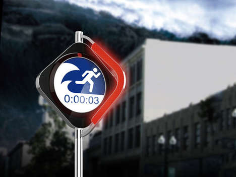Hybrid Emergency Warning Systems - This Tsunami Warning System Doubles as a Traffic Sign