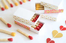 Romantic Matchstick Cookies - These Valentine's Day Biscuits are Designed to Get the Fire Started