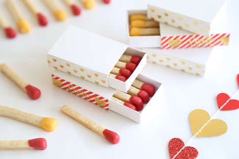 Romantic Matchstick Cookies