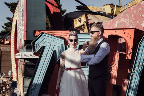 Rockabilly Nuptials Photography - This Sin City Wedding Was Celebrated at the Neon Lights Museum