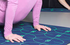 Instructional Yoga Mats - This Yoga Natural Rubber Mat Features Numbers to Ensure Optimal Placement