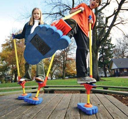 Balance-Practicing Toys - The Monkey Business Sports Stilt Walkers Let Kids Fine-Tune Motor Skills