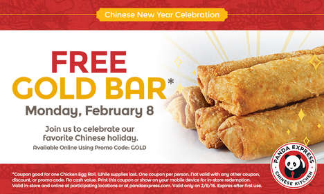 Celebratory Chinese Food Promotions