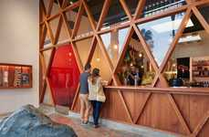 Cross-Hatched Restaurant Facades - Orenchi Beyond's Exterior Boasts a Wood and Glass Construction